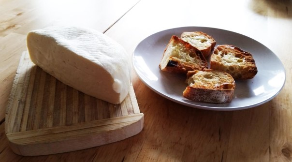 Samish Bay Cheese + toasted bread from the Breadfarm. Add 3 drops of Extra Virgin Olive Oil for perfection