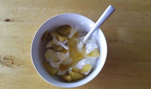 compota frutas+ yogur griego